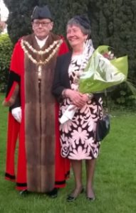 Mayor Glassford with Mayoress Liz Leavy