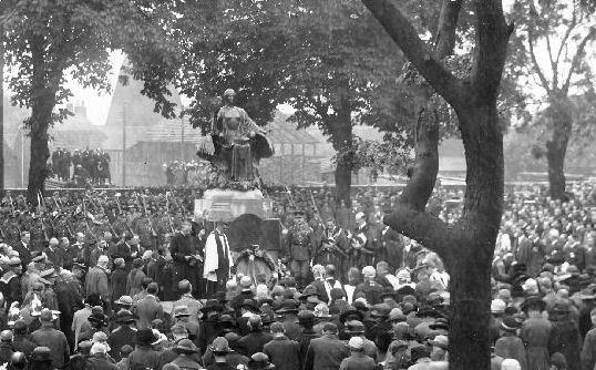 The War memorial in King Square unveiled in 1924