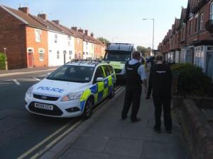 Taunton road raid