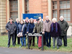 Campaigners gather at the Magistrates Court on Northgate