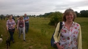 Westover councillor Kathy Pearce joins a group of 'Friends of the Meads' on a ramble.