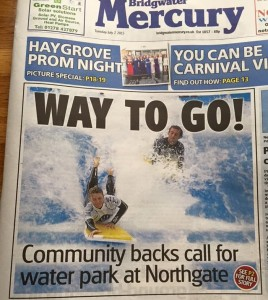 Stu's campaign hits the front pages