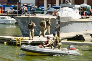 Royal Marines on maneuvres