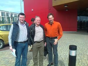 Westover campaigners Andrew Holcombe, Tony Hayward and Martin Grixoni