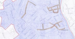 The streets considered for the RPZ