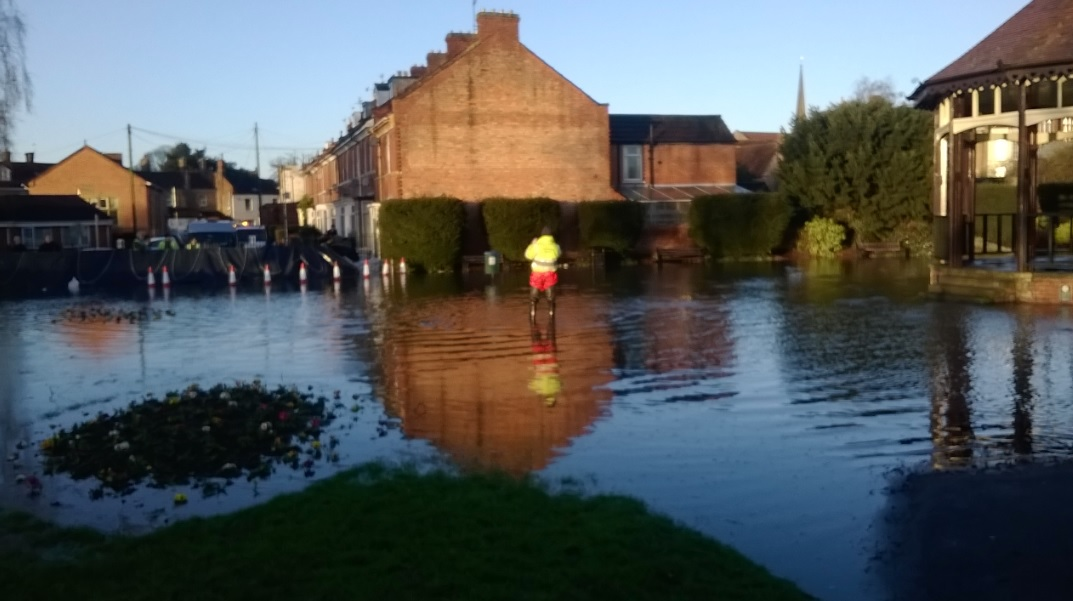 Heavy flooding in Blake gardens has led to  flood defences along st Saviours Avenue
