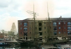 Bridgwater docks 'then and now' by Jim Goddard.