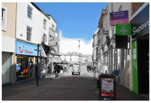 Fore street 'then and now' Jim Goddard