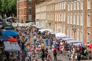 The sun comes out, the people come out and Castle street comes alive.