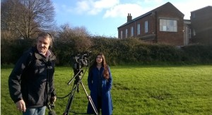 Hannah West of Bridgwater Civic Society who has been campaigning passionately to try to save the Blake hospital. Here featured on ITV.