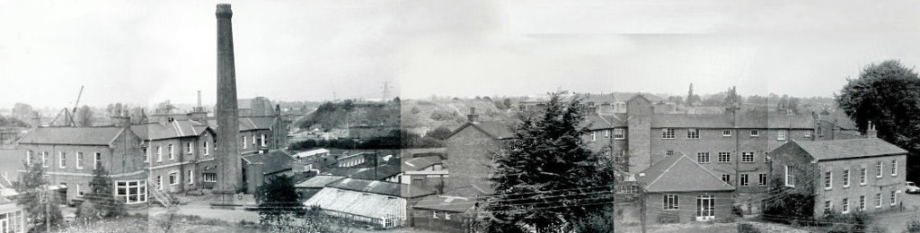 A skyline view of the imposing 'big house' that dominated Bridgwater peoples lives in the 19th and early 20th century