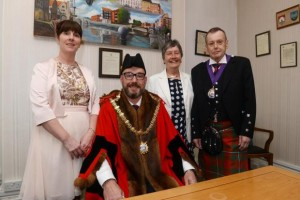 The Mayoral team. Mayoress, mayor, Deputy Mayor's Consort, Deputy Mayor