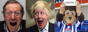 Examples of 'elected mayors' -George ferguson (Bristol) Boris (London) and Hangus the Monkey (Hartlepools)