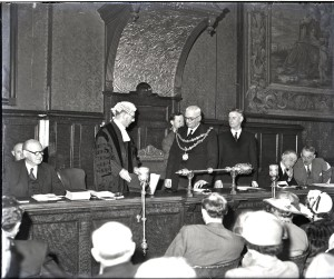 Bridgwater Council Chamber probably c. 1952.