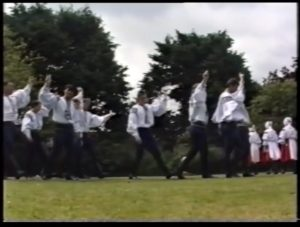 June 18th 1992 Czech dancers in Bridgwater as the Town twins with Uherske Hradiste