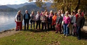 Singing by the lake (in Bled)